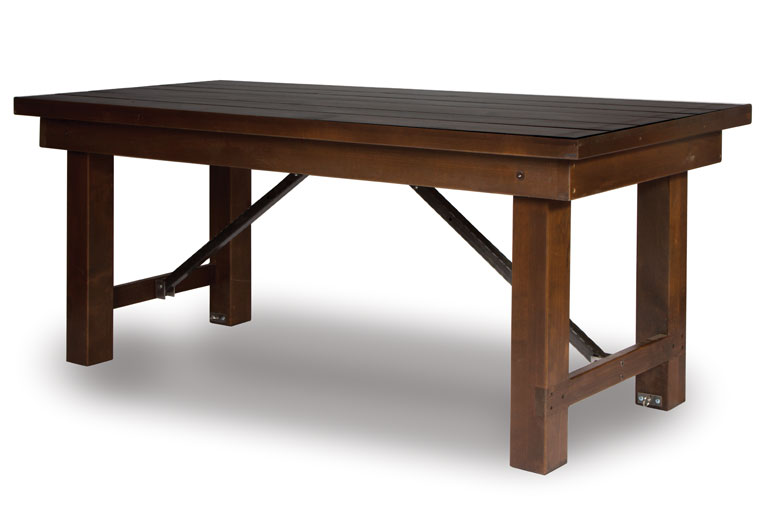 Linenless tables misa bella for Table table table